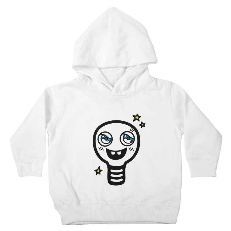 Shining light bulb Kids Toddler Pullover Hoody by beatbeatwing's Artist Shop