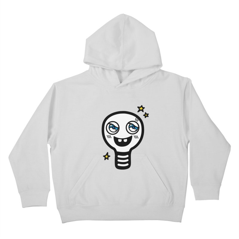 Shining light bulb Kids Pullover Hoody by beatbeatwing's Artist Shop