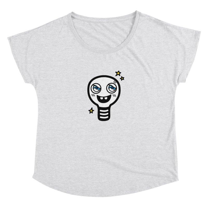 Shining light bulb Women's Dolman Scoop Neck by beatbeatwing's Artist Shop