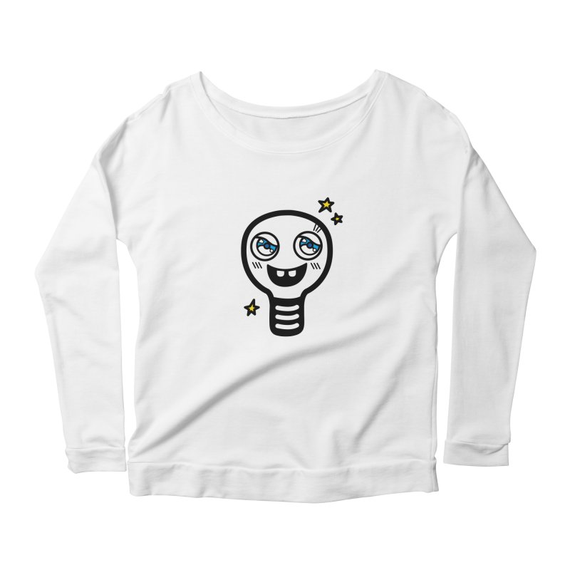 Shining light bulb Women's Longsleeve Scoopneck  by beatbeatwing's Artist Shop