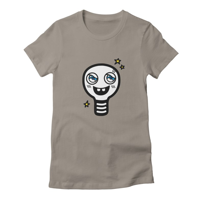 Shining light bulb Women's Fitted T-Shirt by beatbeatwing's Artist Shop