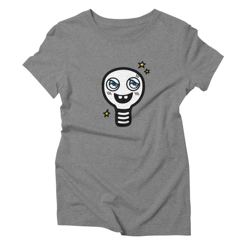 Shining light bulb Women's Triblend T-shirt by beatbeatwing's Artist Shop