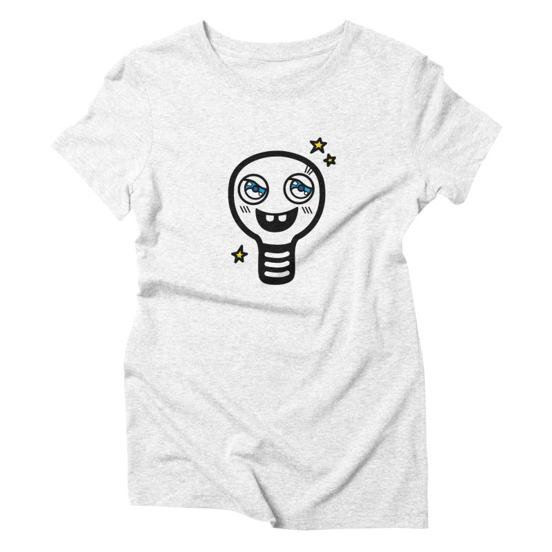 Shining light bulb Women's Triblend T-shirt by beatbeatwing's Artist Shop