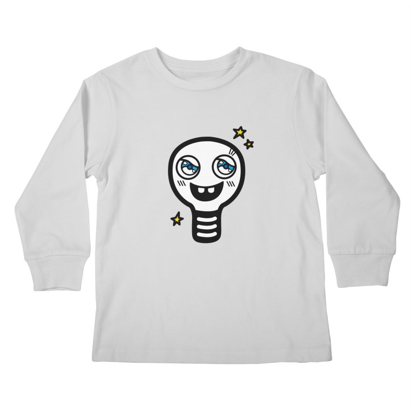 Shining light bulb Kids Longsleeve T-Shirt by beatbeatwing's Artist Shop