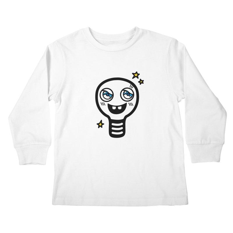 Shining light bulb Kids Longsleeve T-Shirt by beatbeatwing's Artist Shop