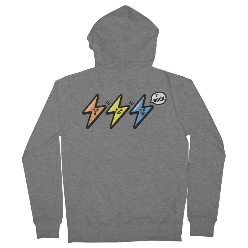 i am rock Men's French Terry Zip-Up Hoody by beatbeatwing's Artist Shop