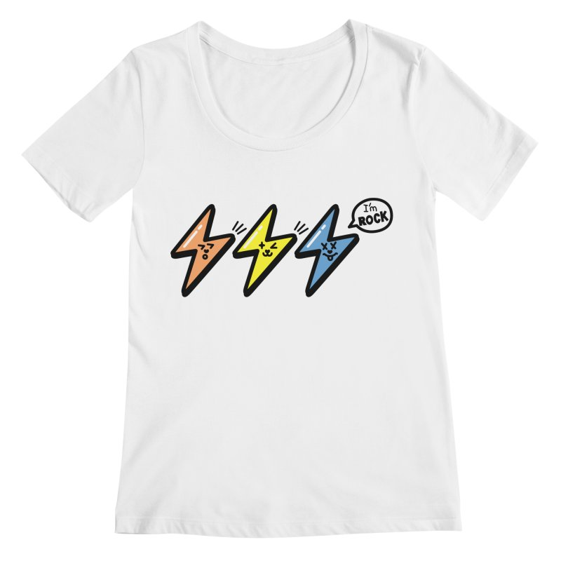 i am rock Women's Scoopneck by beatbeatwing's Artist Shop