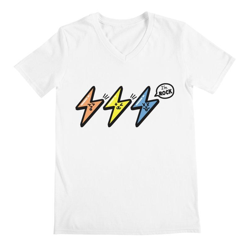 i am rock Men's Regular V-Neck by beatbeatwing's Artist Shop