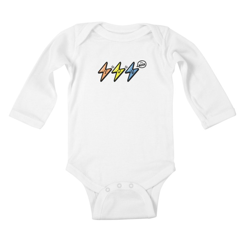 i am rock Kids Baby Longsleeve Bodysuit by beatbeatwing's Artist Shop