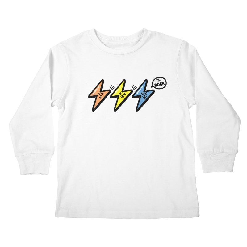 i am rock Kids Longsleeve T-Shirt by beatbeatwing's Artist Shop
