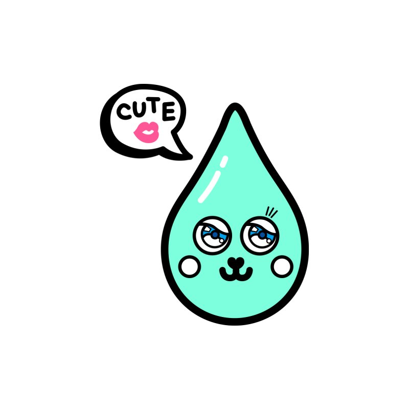 Cute waterdrop None  by beatbeatwing's Artist Shop