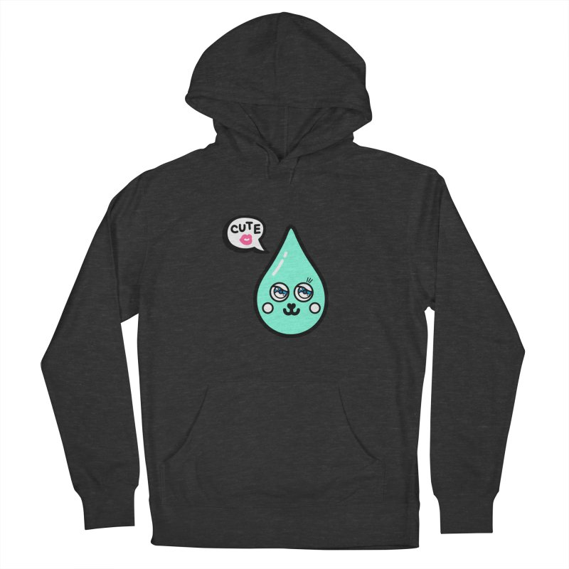 Cute waterdrop Men's French Terry Pullover Hoody by beatbeatwing's Artist Shop