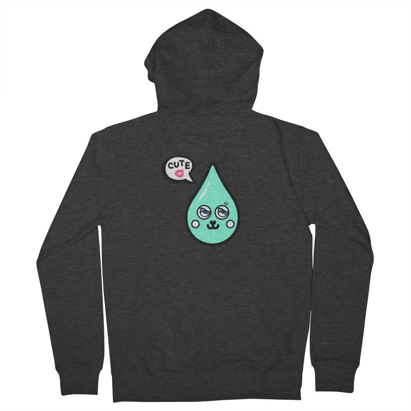 Cute waterdrop Men's French Terry Zip-Up Hoody by beatbeatwing's Artist Shop