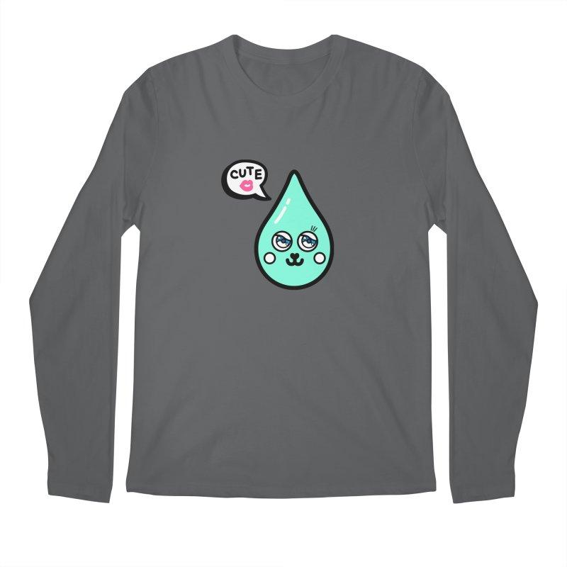 Cute waterdrop Men's Regular Longsleeve T-Shirt by beatbeatwing's Artist Shop