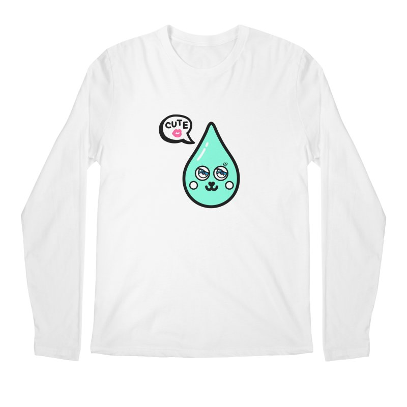 Cute waterdrop Men's Regular Longsleeve T-Shirt by beatbeatwing's Artist Shop