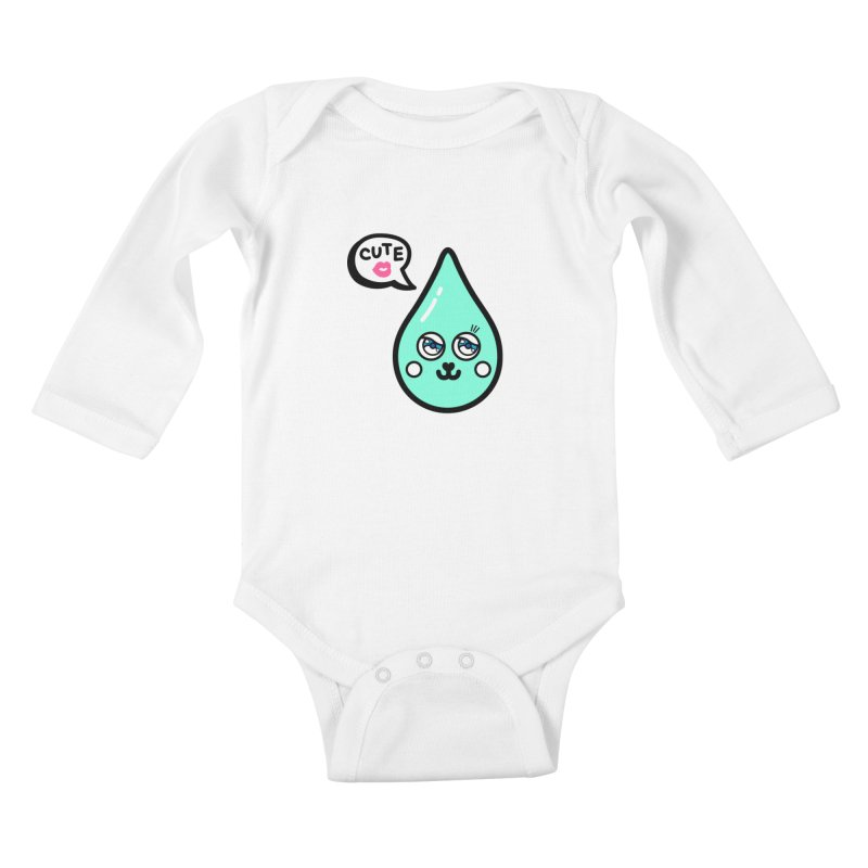 Cute waterdrop Kids Baby Longsleeve Bodysuit by beatbeatwing's Artist Shop
