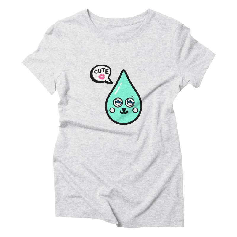 Cute waterdrop Women's Triblend T-Shirt by beatbeatwing's Artist Shop