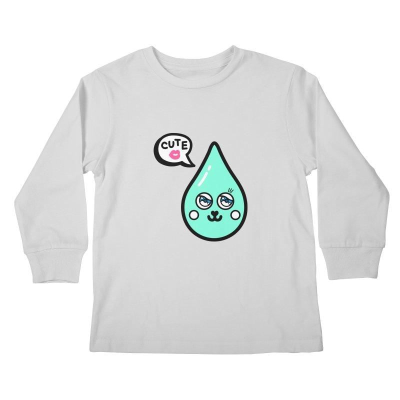 Cute waterdrop Kids Longsleeve T-Shirt by beatbeatwing's Artist Shop