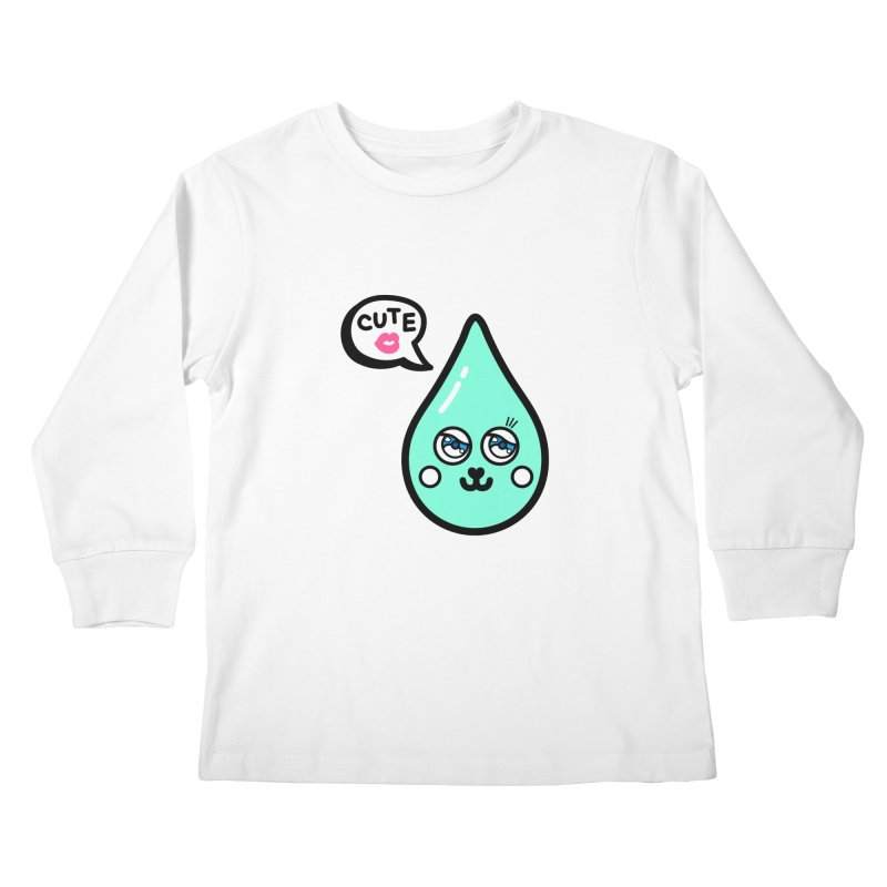 Cute waterdrop Kids Longsleeve T-Shirt by beatbeatwing's Artist Shop