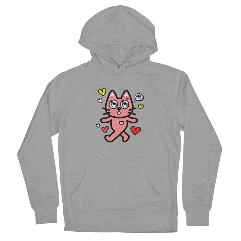 walking kitty Women's Pullover Hoody by beatbeatwing's Artist Shop
