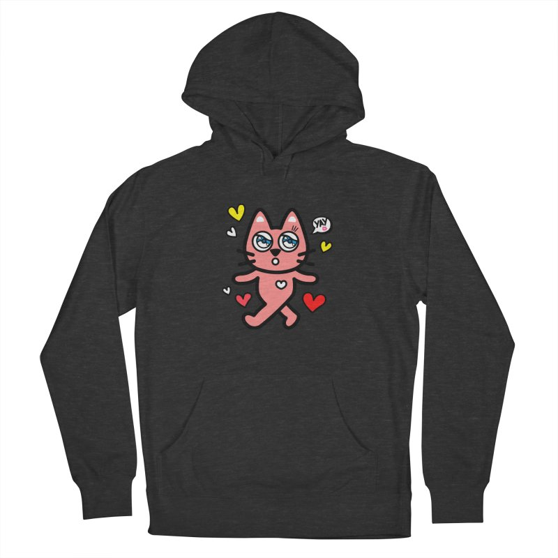 walking kitty Men's French Terry Pullover Hoody by beatbeatwing's Artist Shop