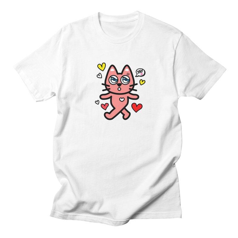 walking kitty Men's Regular T-Shirt by beatbeatwing's Artist Shop