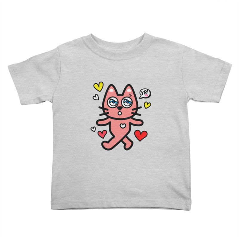 walking kitty Kids Toddler T-Shirt by beatbeatwing's Artist Shop