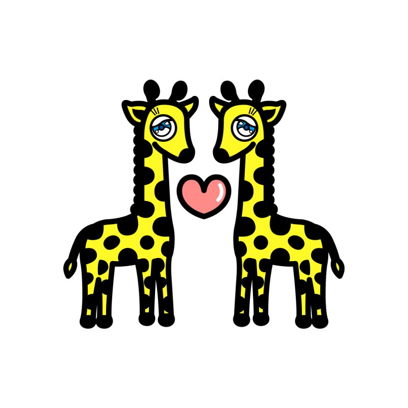 lovely Giraffe Women's T-Shirt by beatbeatwing's Artist Shop