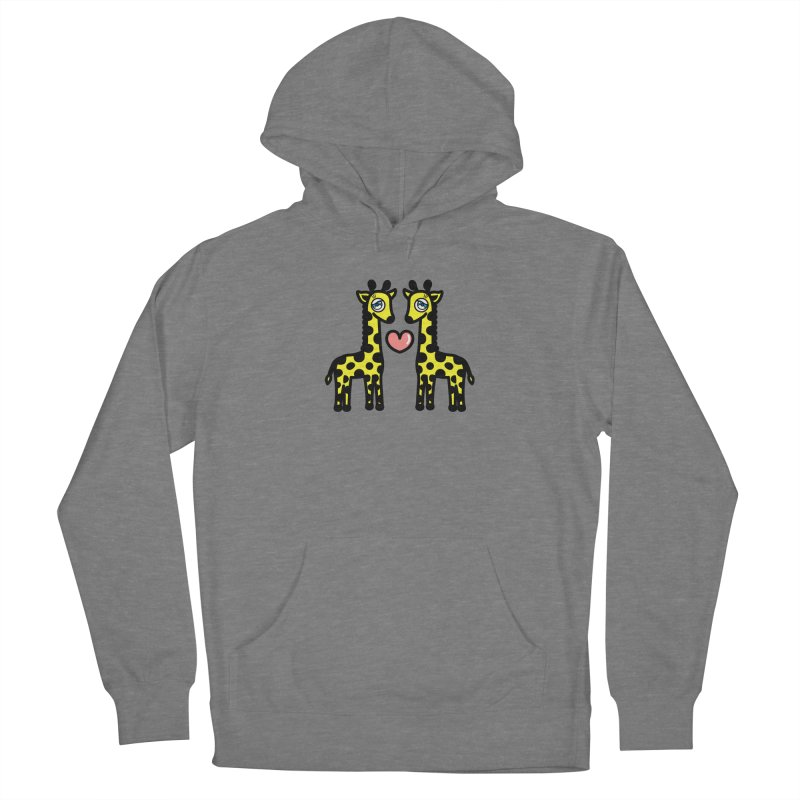 lovely Giraffe Men's French Terry Pullover Hoody by beatbeatwing's Artist Shop