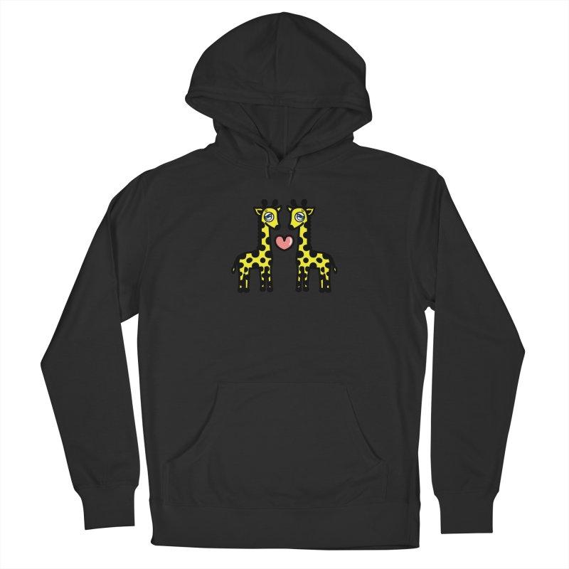 lovely Giraffe Men's Pullover Hoody by beatbeatwing's Artist Shop