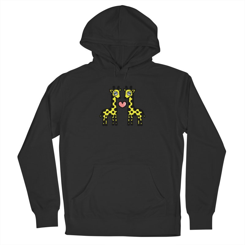 lovely Giraffe Women's French Terry Pullover Hoody by beatbeatwing's Artist Shop