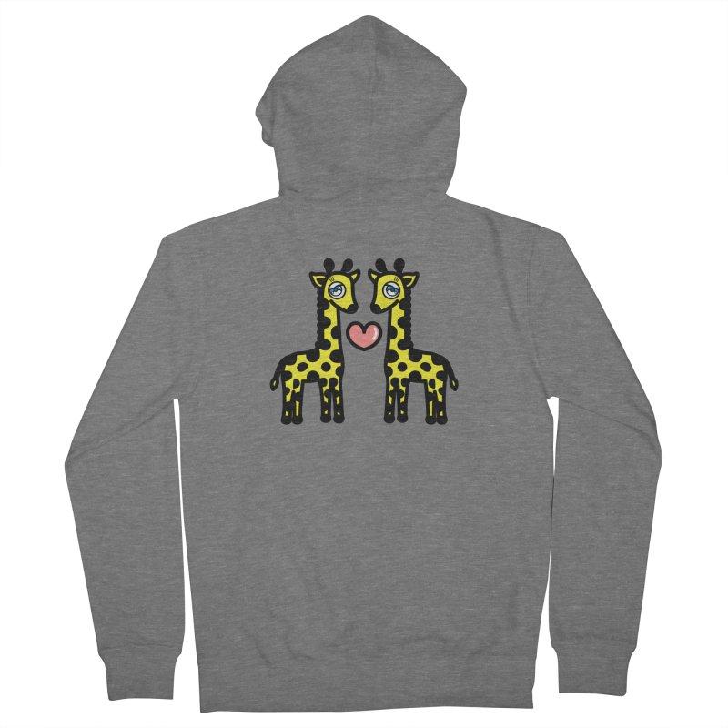lovely Giraffe Women's Zip-Up Hoody by beatbeatwing's Artist Shop