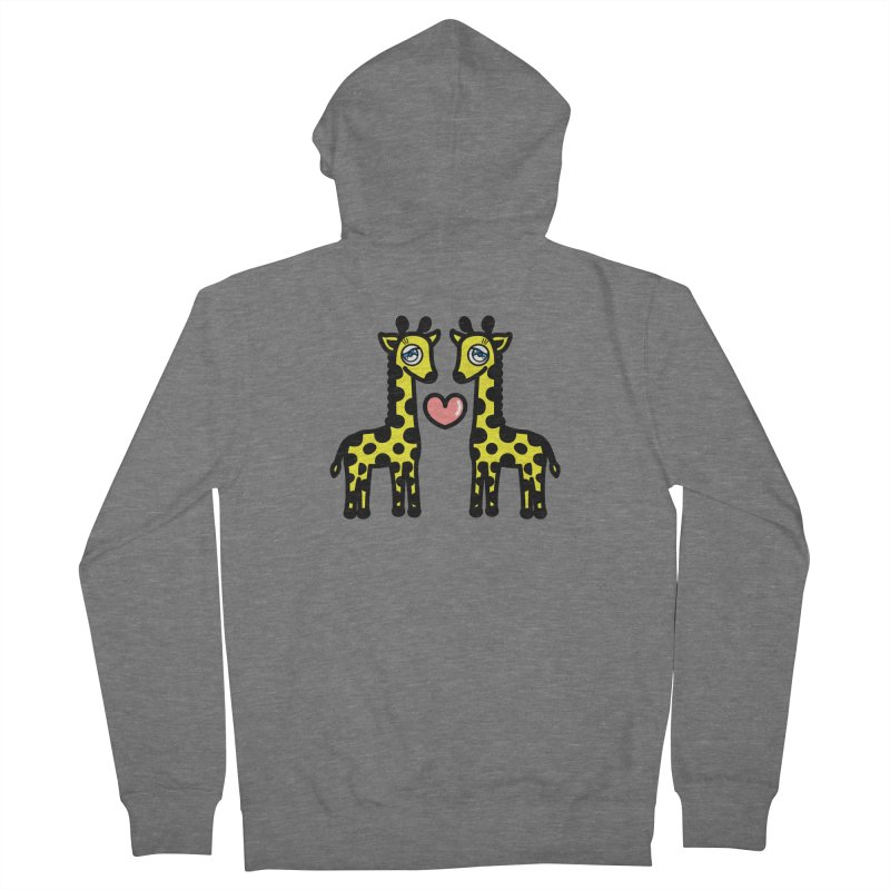 lovely Giraffe Men's Zip-Up Hoody by beatbeatwing's Artist Shop