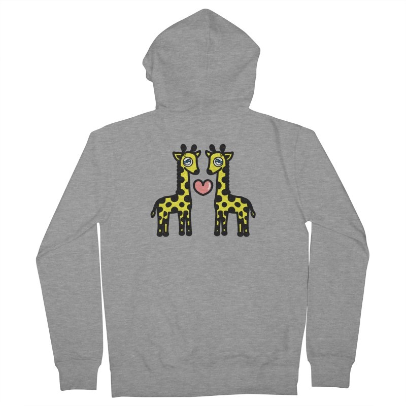 lovely Giraffe Men's French Terry Zip-Up Hoody by beatbeatwing's Artist Shop