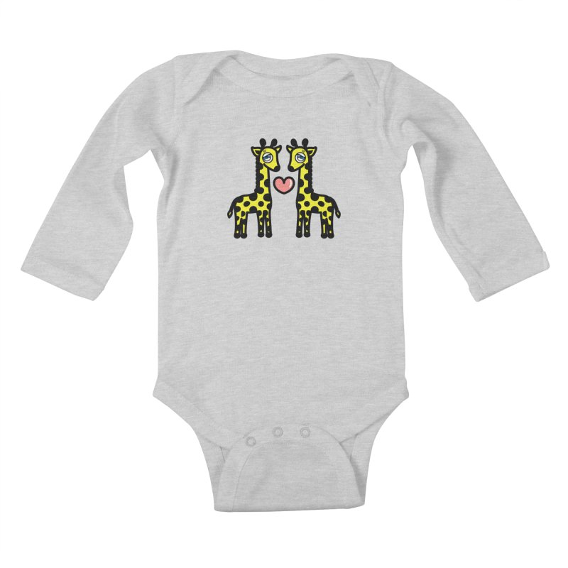 lovely Giraffe Kids Baby Longsleeve Bodysuit by beatbeatwing's Artist Shop