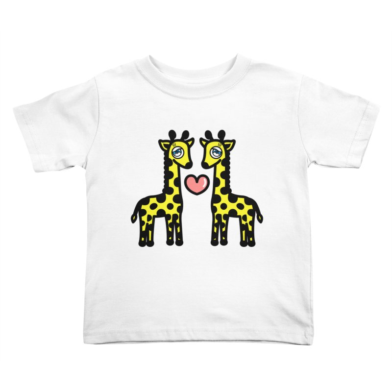 lovely Giraffe Kids Toddler T-Shirt by beatbeatwing's Artist Shop
