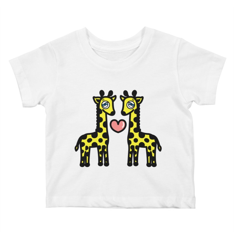lovely Giraffe Kids Baby T-Shirt by beatbeatwing's Artist Shop