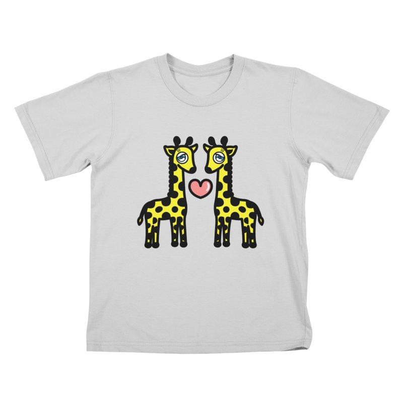 lovely Giraffe Kids T-Shirt by beatbeatwing's Artist Shop