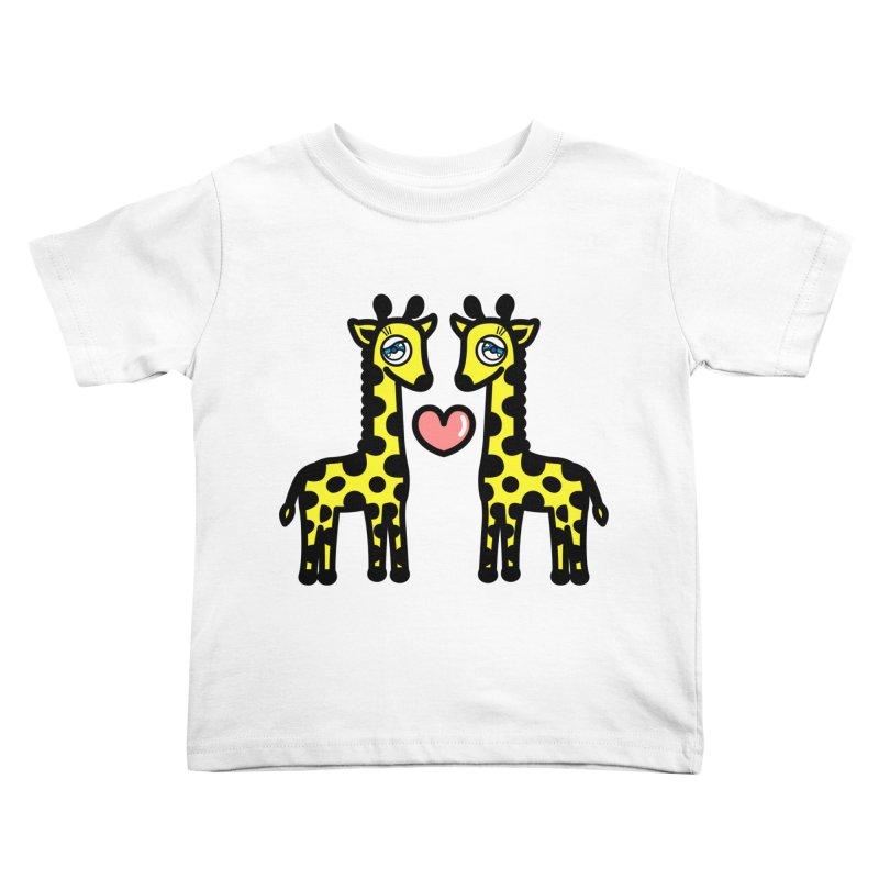 lovely Giraffe Kids Toddler T-Shirt by beatbeatwing's Artist Shop