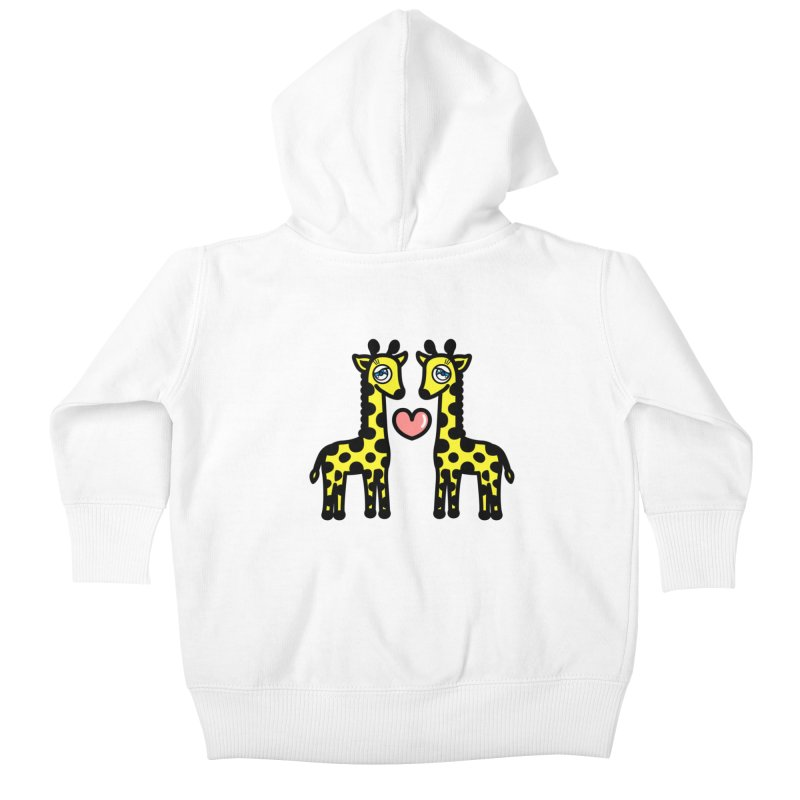 lovely Giraffe Kids Baby Zip-Up Hoody by beatbeatwing's Artist Shop
