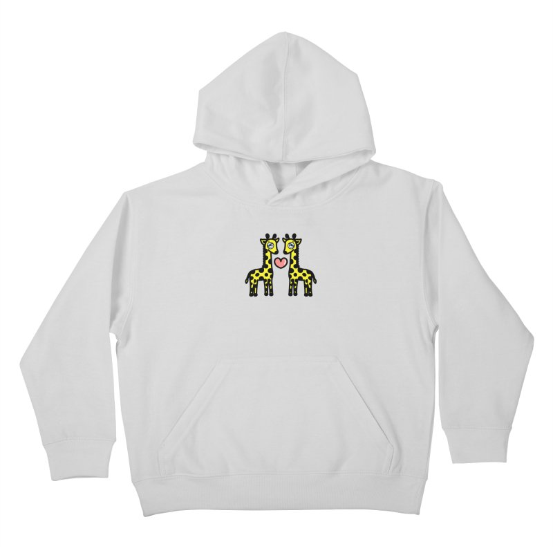 lovely Giraffe Kids Pullover Hoody by beatbeatwing's Artist Shop