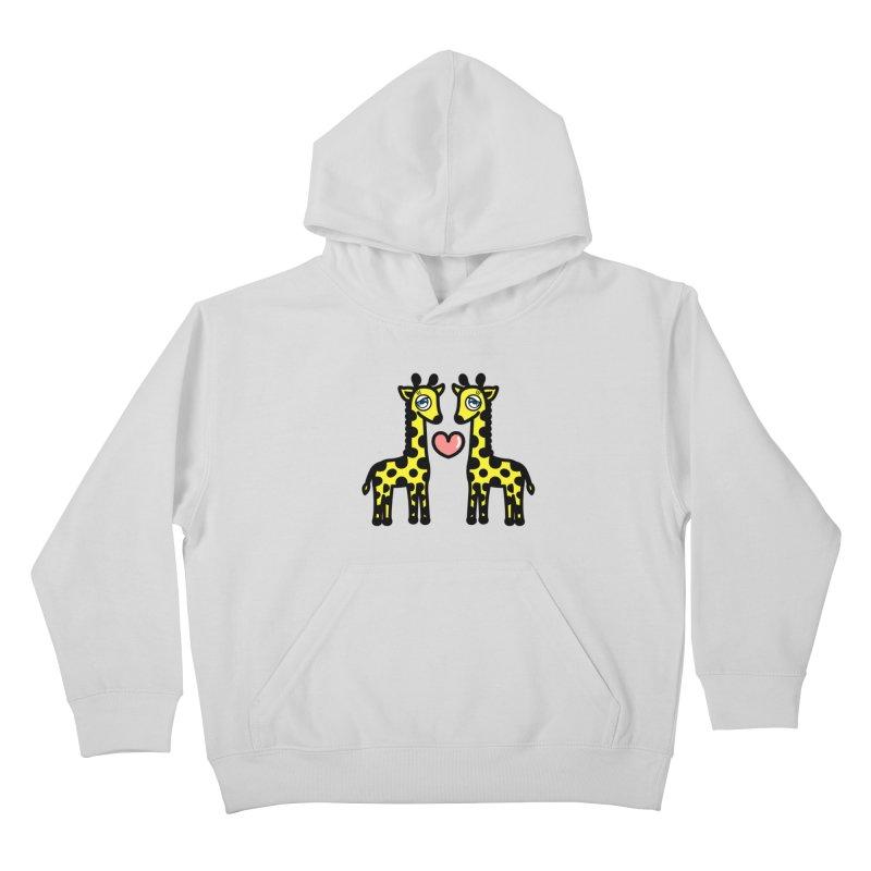 lovely Giraffe Kids Pullover Hoody by beatbeatwing's Artist Shop
