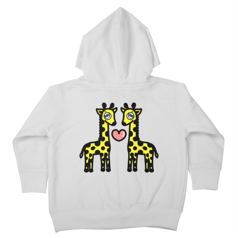 lovely Giraffe Kids Toddler Zip-Up Hoody by beatbeatwing's Artist Shop