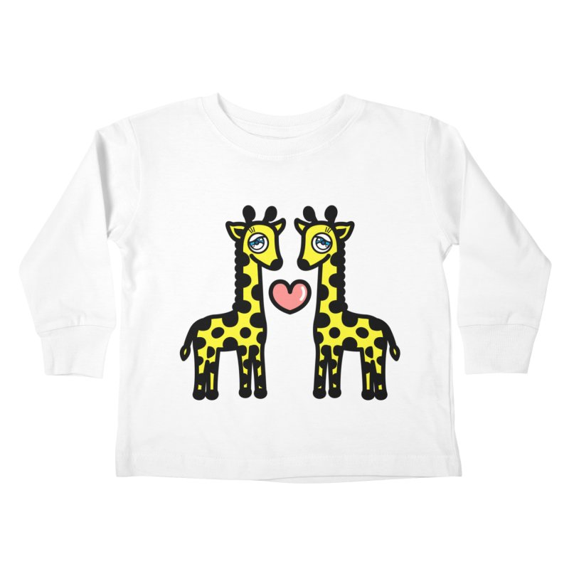 lovely Giraffe Kids Toddler Longsleeve T-Shirt by beatbeatwing's Artist Shop