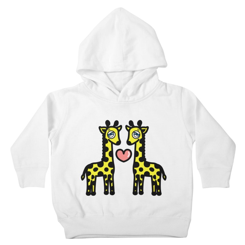 lovely Giraffe Kids Toddler Pullover Hoody by beatbeatwing's Artist Shop