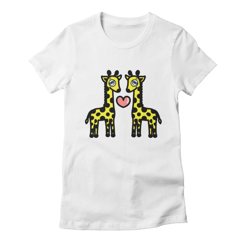 lovely Giraffe Women's Fitted T-Shirt by beatbeatwing's Artist Shop