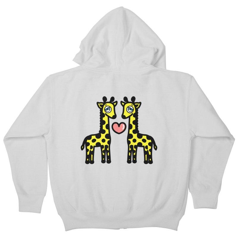 lovely Giraffe Kids Zip-Up Hoody by beatbeatwing's Artist Shop