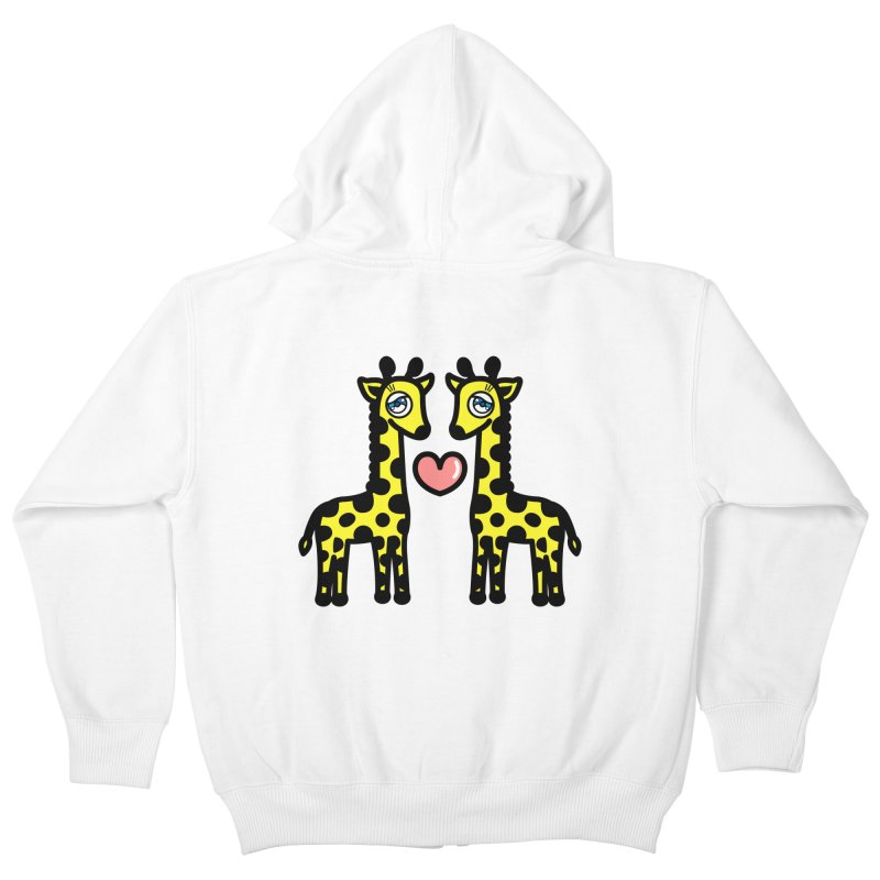 lovely Giraffe Kids Zip-Up Hoody by beatbeatwing's Artist Shop