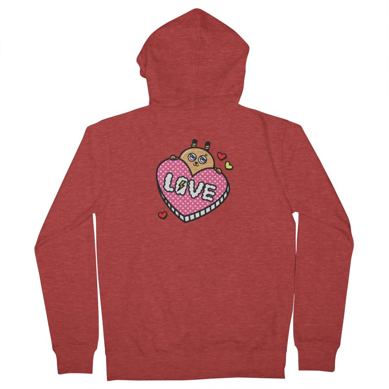 Love is so sweet Women's French Terry Zip-Up Hoody by beatbeatwing's Artist Shop