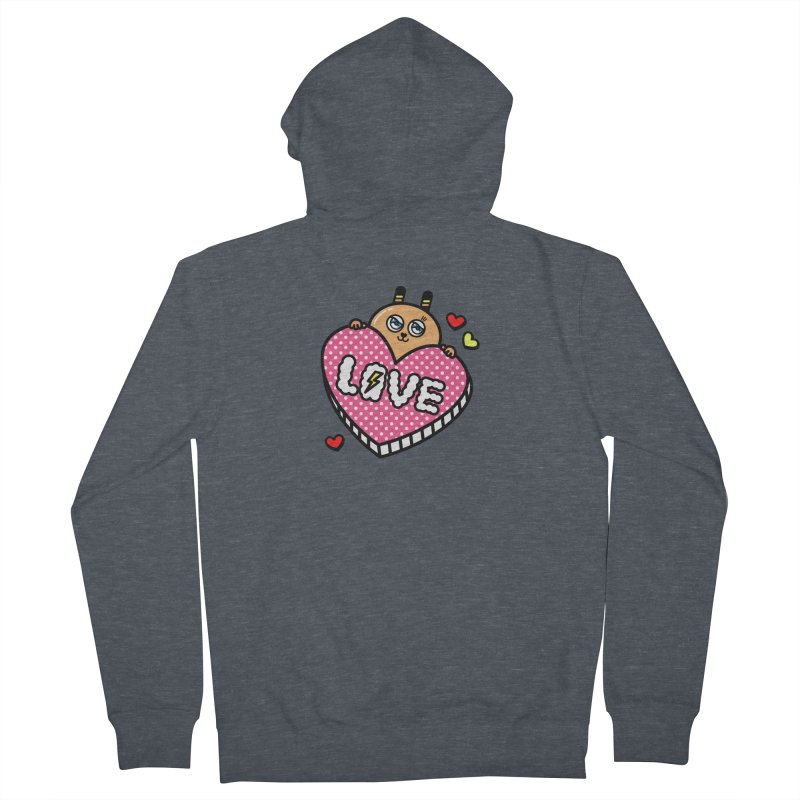 Love is so sweet Men's Zip-Up Hoody by beatbeatwing's Artist Shop
